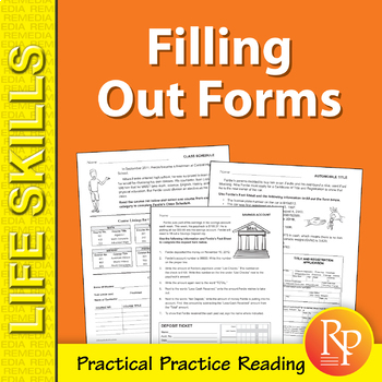 Practice Filling Out Forms Worksheets Teaching Resources Tpt