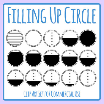 Filling Up Circle Template Clip Art Set for Commercial Use