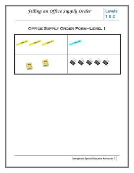 Filling an Office Supply Order-Levels 1&2