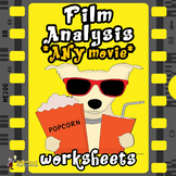 FILM ANALYSIS WORKSHEETS for DISTANCE LEARNING: EDITABLE