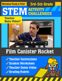 STEM Activity Challenge Film Canister Rocket 3rd-5th grade