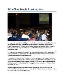 Film Class Student Presentation