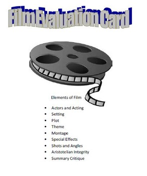 Film Evaluation Card
