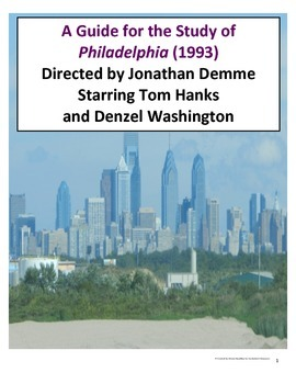 Film Guide for Philadelphia (1993) Dir. Jonathan Demme Starring Tom Hanks