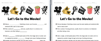 Film IS Literature: Presentation, Notes, and Pop Quiz