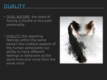 Film & Lit Identity and Duality Unit Discussion Questions PPT