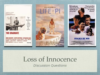 Film & Lit Loss of Innocence Unit Discussion Questions PPT