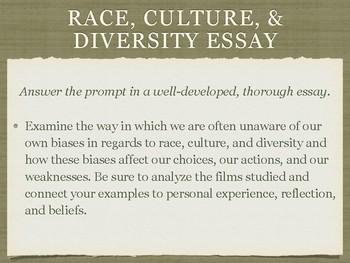 Film & Lit Race, Diversity, & Culture Essay Prompt