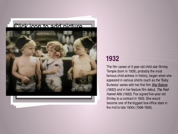 Film Milestones of the 1930's