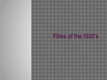 Film Milestones of the 1930's