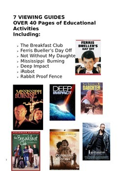 Film Movie Guide Bundle includes The Breakfast Club and Ferris Bueller's Day Off