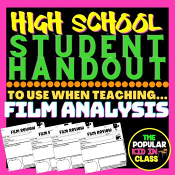 Film / Movie Review Graphic Organizer- For Any Movie!