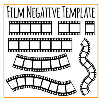 Film Negative Template Clip Art Set for Commercial Use