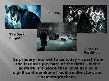 Film Noir Overview- Student PowerPoint Notes