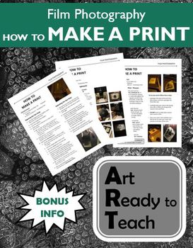 Film/Darkroom Photography Lesson - HOW TO MAKE A PRINT - Directions & Lessons