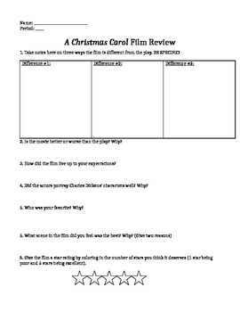 """Film Review- """"A Christmas Carol"""""""