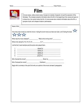 Film Review Worksheet