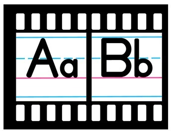 Movie Theme Alphabet Line A-Z