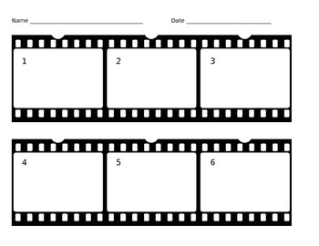Film Strip Graphic Organizer for Sequencing, for Writing,