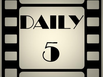 Film Strip Hollywood Theme Daily 5 Poster