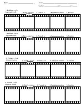 Film Strip graphic organizer