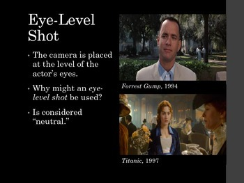 Film Studies - 3 Camera Angles