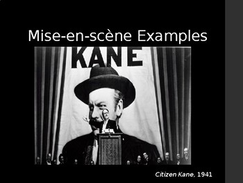 Film Studies - 1 Mise-en-scene
