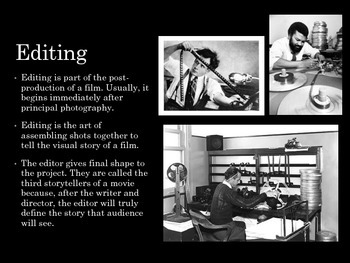 Film Studies - 13 Editing