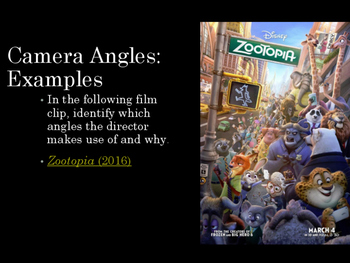 Film Studies - Camera Angles (Middle School Edition)