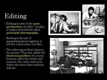 Film Studies - Film Editing (Middle School Edition)