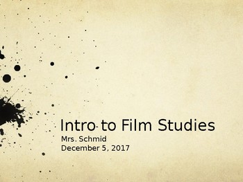 Film Studies Intro Lesson