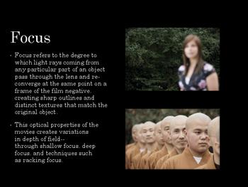 Film Studies - Lenses and Focus (Middle School Edition)