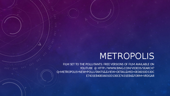 Film Studies- Metropolis