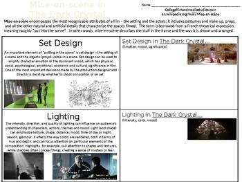 Film Studies - Mise-en-Scene/Set Design - Dark Crystal