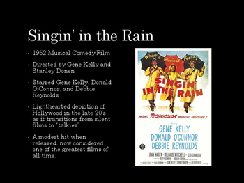 Film Studies - Singin' in the Rain (Middle School Edition)