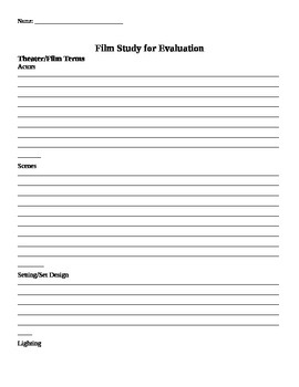 Film Study Handout