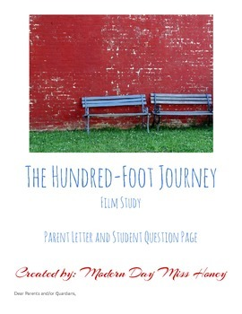 Film Study: The Hundred-Foot Journey Parent Letter and Student Question Page
