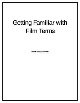 Film Vocab and Worksheets