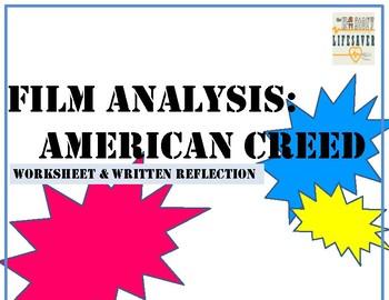 "Film Worksheet & Reflection: ""American Creed"""