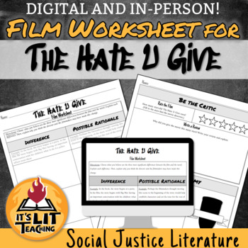 Film Worksheet for The Hate U Give