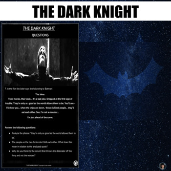 Film study: The Dark Knight (test; summary; script excerpts; critical lens Q)
