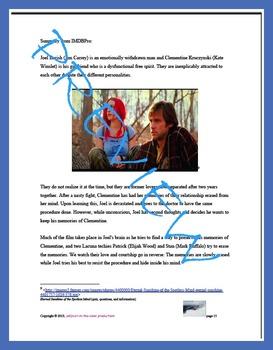 Film study guide: Eternal Sunshine of the Spotless Mind & The Velveteen Rabbit