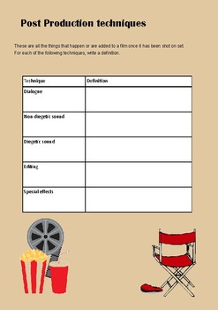 Film technique worksheets