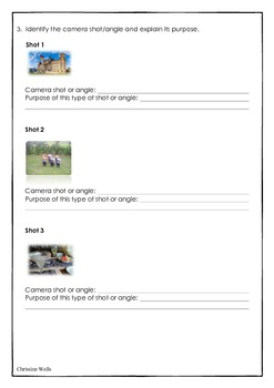 Film techniques worksheet