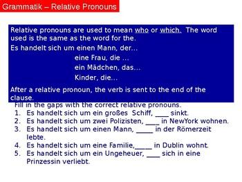 Filme / Kino / Movies / Cinema / Relative Pronouns