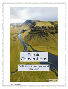 Filmic Conventions Booklet