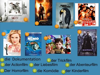 Films and Cinema in German - Kino und Filme