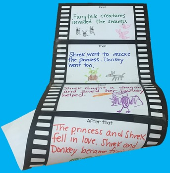 Filmstrip for Summary or Story Planning