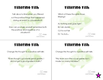 Filtering Fish- CBT Animals Freebie! (Cognitive Distortions)