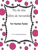Fin de año Libro de recuerdos-End of Year Memory Book-In Spanish